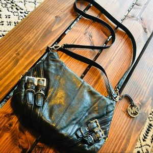 「Michael Kors」Black Milo Convertible Shoulder Bag